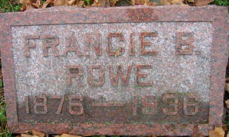 ROWE, FRANCIE B. - Linn County, Iowa | FRANCIE B. ROWE