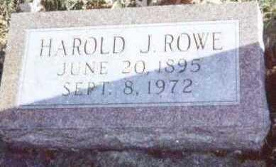 ROWE, HAROLD J. - Linn County, Iowa | HAROLD J. ROWE
