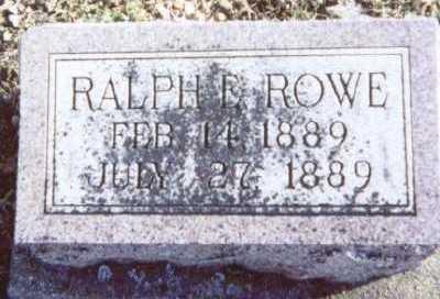 ROWE, RALPH E. - Linn County, Iowa | RALPH E. ROWE