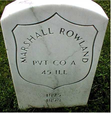 ROWLAND, PRIVATE MARSHALL - Linn County, Iowa | PRIVATE MARSHALL ROWLAND