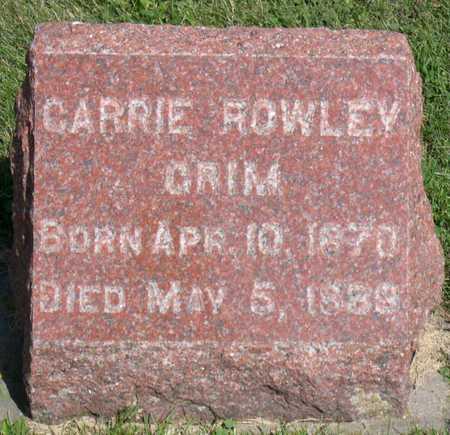 GRIM ROWLEY, CARRIE - Linn County, Iowa | CARRIE GRIM ROWLEY