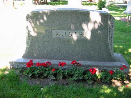 RUBEK, FAMILY STONE - Linn County, Iowa | FAMILY STONE RUBEK