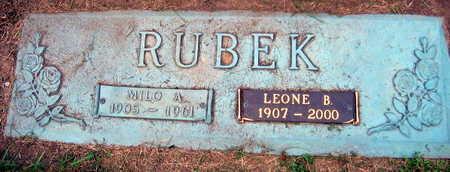 RUBEK, LEONE B. - Linn County, Iowa   LEONE B. RUBEK