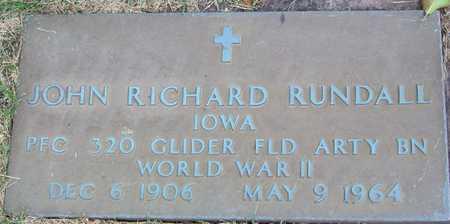 RUNDALL, JOHN RICHARD - Linn County, Iowa | JOHN RICHARD RUNDALL