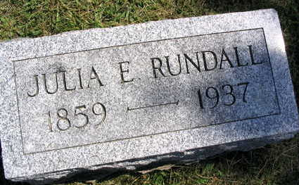 RUNDALL, JULIA E. - Linn County, Iowa | JULIA E. RUNDALL
