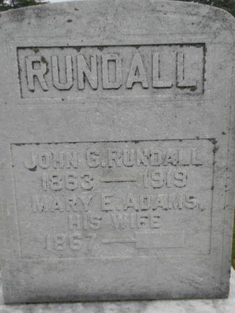 RUNDALL, JOHN G. - Linn County, Iowa | JOHN G. RUNDALL