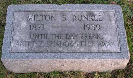 RUNKLE, MILTON S. - Linn County, Iowa | MILTON S. RUNKLE