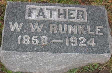 RUNKLE, W. W. - Linn County, Iowa | W. W. RUNKLE