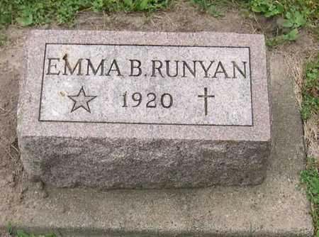 RUNYAN, EMMA B. - Linn County, Iowa   EMMA B. RUNYAN