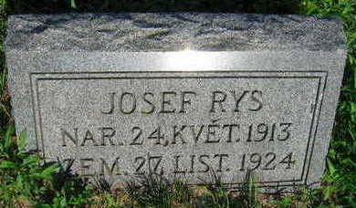RYS, JOSEF - Linn County, Iowa | JOSEF RYS