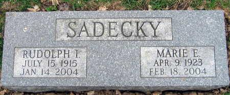 SADECKY, RUDOLPH I. - Linn County, Iowa | RUDOLPH I. SADECKY