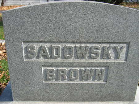 SADOWSKY BROWN, FAMILY STONE - Linn County, Iowa | FAMILY STONE SADOWSKY BROWN