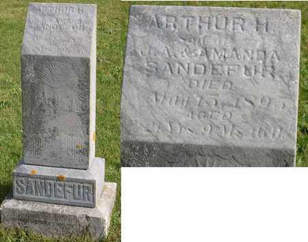SANDEFUR, ARTHUR H. - Linn County, Iowa | ARTHUR H. SANDEFUR