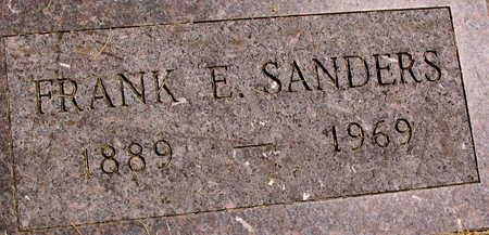 SANDERS, FRANK E. - Linn County, Iowa   FRANK E. SANDERS