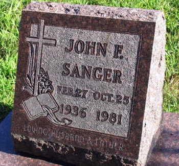 SANGER, JOHN F. - Linn County, Iowa | JOHN F. SANGER