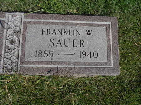SAUER, FRANKLIN W - Linn County, Iowa | FRANKLIN W SAUER