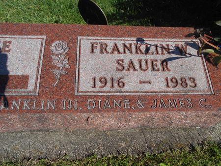 SAUER, FRANKLIN W. - Linn County, Iowa | FRANKLIN W. SAUER
