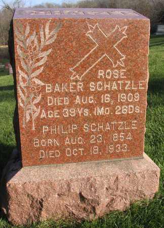 BAKER SCHATZLE, ROSE - Linn County, Iowa   ROSE BAKER SCHATZLE