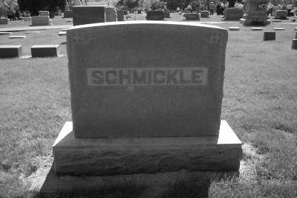 SCHMICKLE, FAMILY STONE - Linn County, Iowa | FAMILY STONE SCHMICKLE