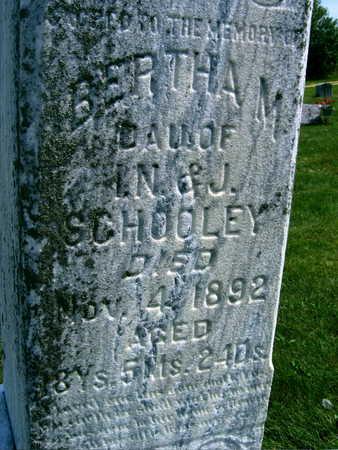 SCHOOLEY, BERTHA M. - Linn County, Iowa   BERTHA M. SCHOOLEY