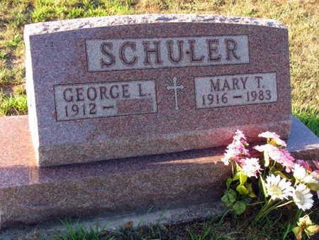 SCHULER, MARY T. - Linn County, Iowa   MARY T. SCHULER