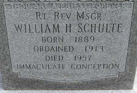 SCHULTE, REV. WILLIAM H. - Linn County, Iowa | REV. WILLIAM H. SCHULTE