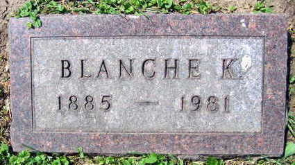 SCHULTZ, BLANCHE K. - Linn County, Iowa   BLANCHE K. SCHULTZ
