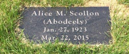 ABODEELY SCOLLON, ALICE M. - Linn County, Iowa | ALICE M. ABODEELY SCOLLON