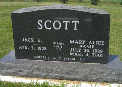 SCOTT, MARY ALICE - Linn County, Iowa | MARY ALICE SCOTT