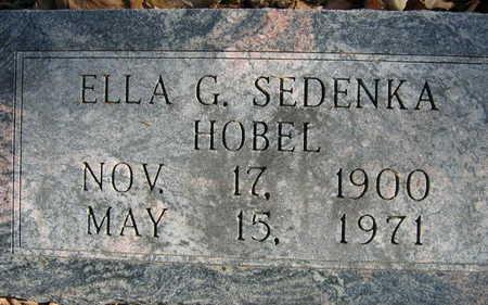 SEDENKA HOBEL, ELLA G. - Linn County, Iowa   ELLA G. SEDENKA HOBEL