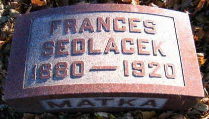 RYPKA SEDLACEK, FRANCES B - Linn County, Iowa | FRANCES B RYPKA SEDLACEK