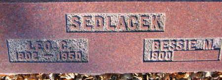 SEDLACEK, LEO C. - Linn County, Iowa   LEO C. SEDLACEK