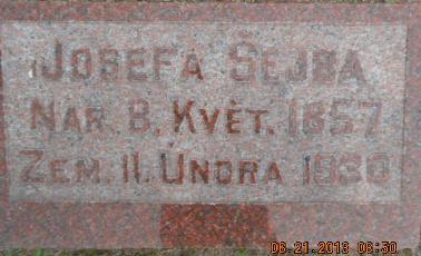 SEJBA, JOSEFA - Linn County, Iowa | JOSEFA SEJBA