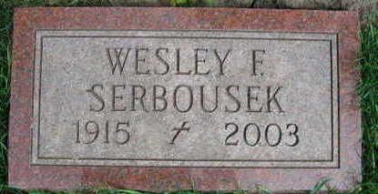 SERBOUSEK, WESLEY F. - Linn County, Iowa | WESLEY F. SERBOUSEK