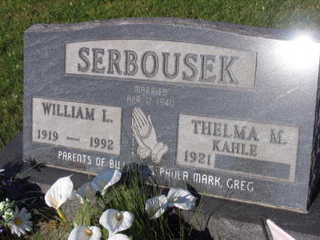 SERBOUSEK, WILLIAM L. - Linn County, Iowa   WILLIAM L. SERBOUSEK