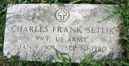 SETLIK, CHARLES FRANK - Linn County, Iowa   CHARLES FRANK SETLIK