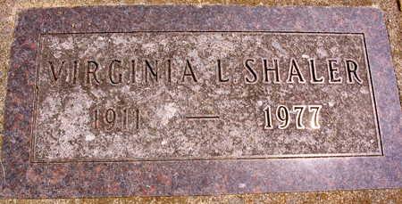 SHALER, VIRGINIA L. - Linn County, Iowa | VIRGINIA L. SHALER