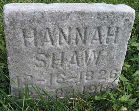 SHAW, HANNAH - Linn County, Iowa | HANNAH SHAW