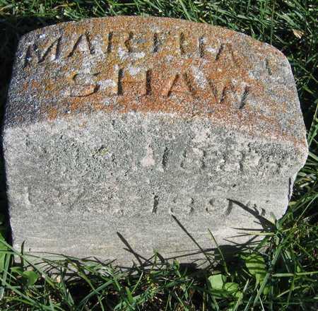 SHAW, MARTHA - Linn County, Iowa   MARTHA SHAW