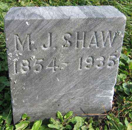 SHAW, M. J. - Linn County, Iowa | M. J. SHAW