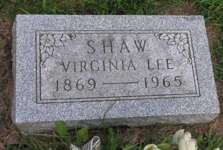 SHAW, VIRGINIA LEE - Linn County, Iowa | VIRGINIA LEE SHAW