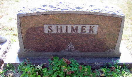SHIMEK, FAMILY STONE - Linn County, Iowa | FAMILY STONE SHIMEK