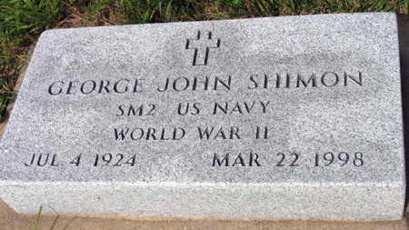 SHIMON, GEORGE JOHN - Linn County, Iowa   GEORGE JOHN SHIMON