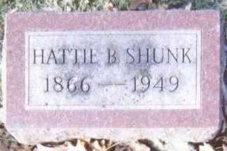 SHUNK, HATTIE B. - Linn County, Iowa | HATTIE B. SHUNK