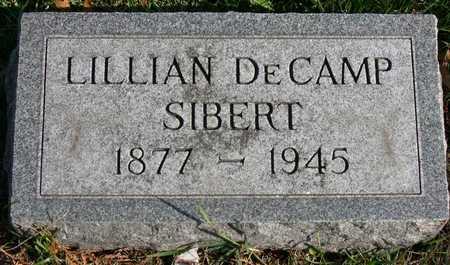 DECAMP SIBERT, LILLIAN - Linn County, Iowa | LILLIAN DECAMP SIBERT