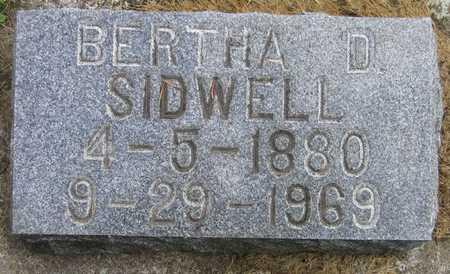 SIDWELL, BERTHA D. - Linn County, Iowa | BERTHA D. SIDWELL