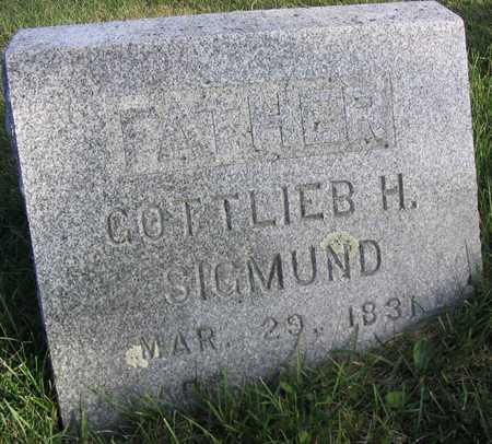 SIGMUND, GOTTLIEB H. - Linn County, Iowa | GOTTLIEB H. SIGMUND