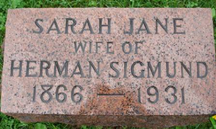 SIGMUND, SARAH JANE - Linn County, Iowa | SARAH JANE SIGMUND