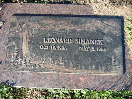 SIMANEK, LEONARD - Linn County, Iowa | LEONARD SIMANEK