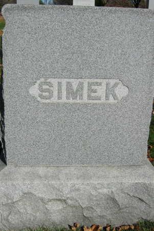 SIMEK, FAMILY STONE - Linn County, Iowa | FAMILY STONE SIMEK